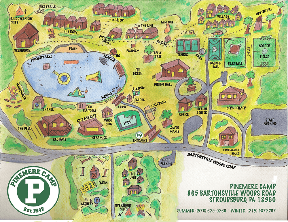 Pinemere-Map